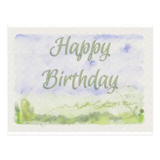 Joyeux anniversaire (peint) carte postale