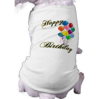 Joyeux anniversaire - personnaliser manteaux pour toutous