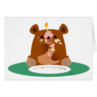 Joyeux anniversaire, peu d'ours ! ! carte de vœux