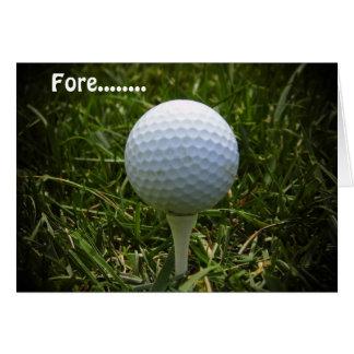 Joyeux anniversaire pour le golfeur ! carte de vœux