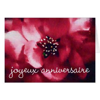 joyeux anniversaire rose card