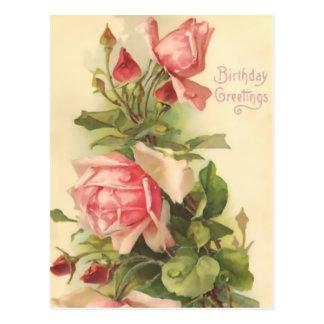 Joyeux anniversaire vintage cartes postales