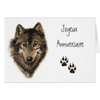 Joyeux Anniversaire, Wolf, Wolves, Animal Card