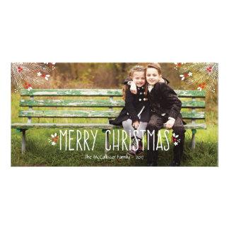 Joyeux carte photo de Noël de baie Photocarte