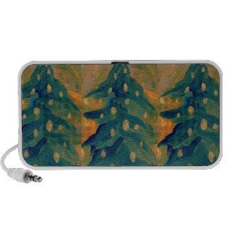 Joyeux décor de vacances d'arbre de Noël d'art pop Haut-parleur Mobile