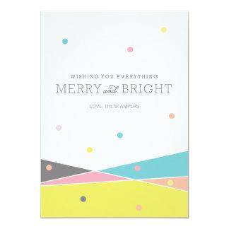Joyeux et lumineux tout carton d'invitation  12,7 cm x 17,78 cm