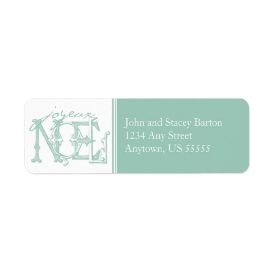 Joyeux Holiday Return Address Label