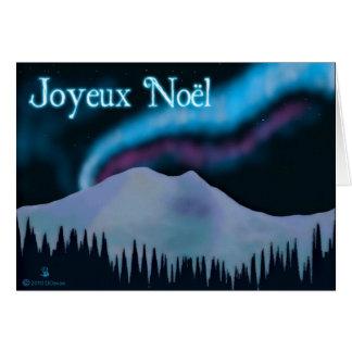 Joyeux Noёl - Blue Aurora Card