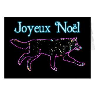 Joyeux Noёl - Electric Wolf Card