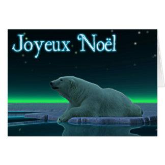 Joyeux Noёl - Ice Edge Polar Bear Greeting Card
