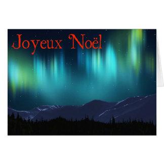 Joyeux Noёl - l'aurore Borealis Carte De Vœux