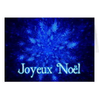 Joyeux Noёl - Snowburst Greeting Card
