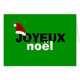 Joyeux Noel A Vous Note Card
