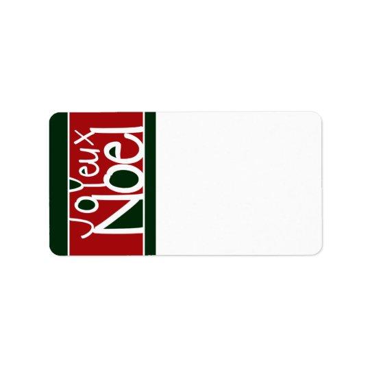 Joyeux Noel Address Labels