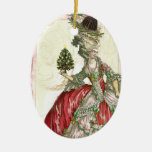 Joyeux Noel Ceramic Oval Ornament