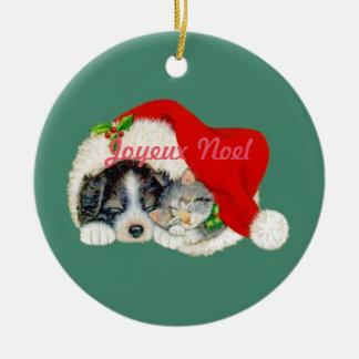 Joyeux Noel Christmas Ornament French Canadian