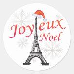 Joyeux Noel Classic Round Sticker