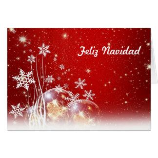 Joyeux Noël de Feliz Navidad dans l'Espagnol et le Carte De Vœux