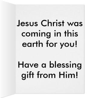 Joyeux Noël de Jésus Carte De Vœux Grand Format