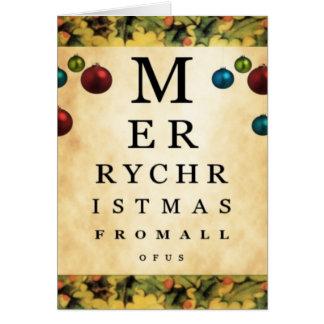 Joyeux Noël de tous les nous carte de diagramme d'