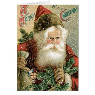 Joyeux Noël démodé le père noël Carte De Vœux