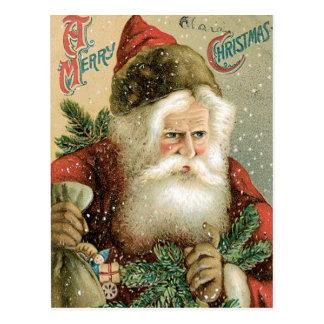 Joyeux Noël démodé le père noël Carte Postale