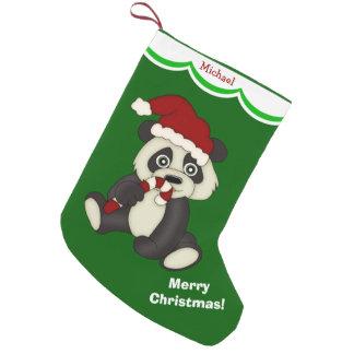Joyeux Noël d'ours panda personnalisé Petite Chaussette De Noël