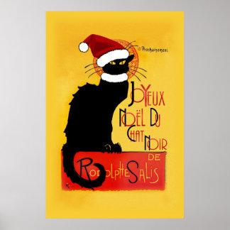 Joyeux Noël Du Chat Noir Poster