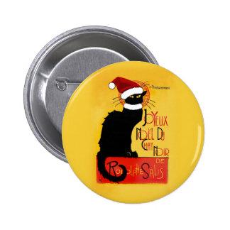 Joyeux Noël Du Chat Noir Buttons