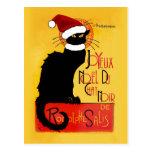 Joyeux Noël Du Chat Noir Carte Postale