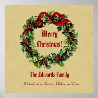 Joyeux Noël Ecru 02 de guirlande vintage de Noël