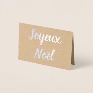 Joyeux Noël Foil Card