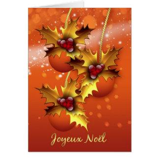 Joyeux Noel French Christmas Card Stylish Ornament