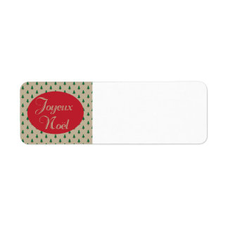 Joyeux Noel - French Christmas Return Labels
