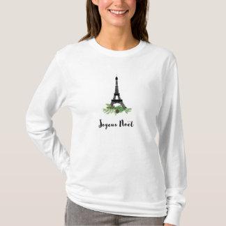 Joyeux Noel French Christmas with Eiffel Tower T-Shirt