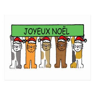 Joyeux Noel French Happy Christmas Postcard