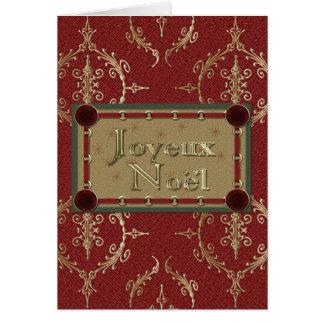 Joyeux Noel French Merry Christmas Greeting Card