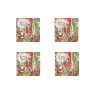 Joyeux Noel ( French Merry Christmas ) Stone Magnets