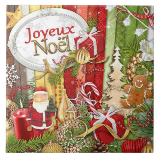 Joyeux Noel ( French Merry Christmas ) Tile