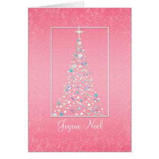 Joyeux Noel - French - Merry Christmas Tree Greeting Card