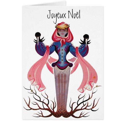Joyeux Noel French Vintage Christmas New Year Greeting Card