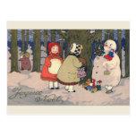 """Joyeux Noel"" French Vintage Christmas Postcard"