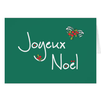 Joyeux Noel Greeting Cards