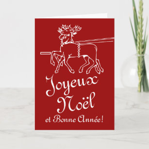 Christmas cards zazzle ca joyeux nol greeting cards french christmas text m4hsunfo