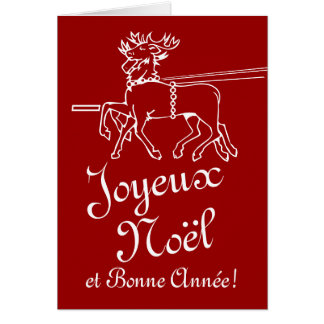 Joyeux Noël greeting cards | French Christmas text