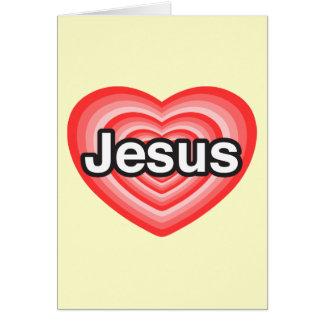 Joyeux Noël. J'aime Jésus. Coeur de Jésus Carte De Vœux