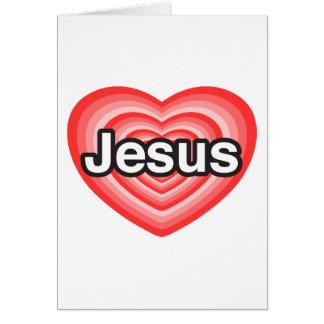 Joyeux Noël ! J'aime Jésus. Coeur de Jésus Carte De Vœux