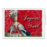 Joyeux Noel Marie Antoinette Christmas Greeting Cards