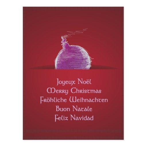 Joyeux Noël Merry Christmas merry Christmas Postcard