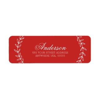 Joyeux Noel Modern Christmas Return Address Label